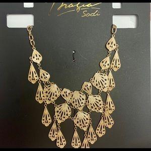 Thalia Gold Tone Statement Necklace